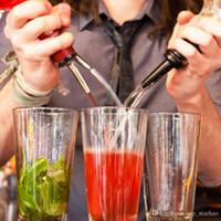 dispensador de fiesta al por mayor-2018 de Acero Inoxidable de Whisky de Aceite de Licor Botella de Vino Pourer Cap Boquilla Tapón Boca Dispensador Bar Bartender Home Party Accesorios XL-436