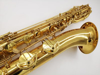 Wholesale gold instruments resale online - New Arrival YANAGISAWA B Baritone Saxophone Brass Tube Gold Lacquer Surface Sax Brand Instruments With Mouthpiece
