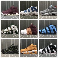 Wholesale Hunt More - 2018 Air more Tri-Color Uptempo QS 96 bsidian Bordeaux Olympic Bulls UNC Gym Red Men Basketball Shoes Airs 3M Scottie Pippen Sports Sneaker