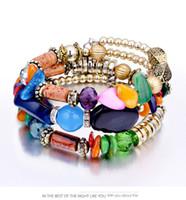 Wholesale White Opal Bangle Bracelet - 6 Colors Multi-Layers Ethnic Bracelet Opal Designer Bracelet for Women Luxury Jewelry Bangles Luxury Jewelry Love Bracelet Bracciali