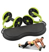rodillos de gimnasio al por mayor-Fitness matchine entrenador abdominal Rueda Brazo Pierna Gimnasio Ejercicio Rodillos Ab Equipos de musculación musculación diseñar su cuerpo