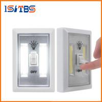 rv dolapları toptan satış-COB LED Anahtarı Işık Kablolu Altında Kablosuz Akülü Dolap Mutfak RV Gece Lambası kapalı duvar ışık Gece Işıkları
