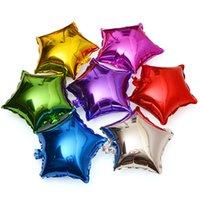doğum günü kalp balonları toptan satış-Yıldız aşk kalp folyo balon çocuk doğum günü partisi dekorasyon 18 inç balonlar parti malzemeleri düğün dekor hava balonlar