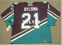 Wholesale anaheim mighty ducks jersey resale online - Mens DAN BYLSMA Anaheim Mighty Ducks CCM Retro Away Hockey Jersey or custom any name or number retro Jersey