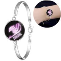 schwanz armband großhandel-Fairy Tail Glas Cabochon Armband Armreif Zubehör Kreative Unisex Schmuck Großhandel