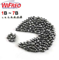 Wholesale Flying Gear - 100PCS 1B to 7B Premium Split Shot Lead Fishing Sinker Weight Combo With Box for Option Fishing Accessories for Fly Carp [PZ001]