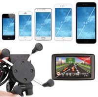 steckdose ladegerät großhandel-Universal X Typ Auto Motorrad Halterung Halter Stand 12V USB Ladegerät Steckdose Steckdose Smart Phone Holder 30pcs GGA72