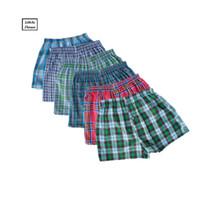 Wholesale Mens Plaid Boxer - Wholesale-M-4L Classic Plaid Men Boxer Shorts Mens Underwear Trunks Cotton Cuecas Underwear boxers for male Arrow Panties