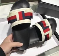 Wholesale Peep Toe Bow - 2018 summer Fashion Womens Rubber with canvas knot bow peep toe flat heel Mule pool beach Slides Sandals slipper