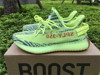 Wholesale Outdoor Fluorescent - Originals Boost 350 V2 Fluorescent Green B37572 Zebra Outdoor Running Shoes for Men Blue Tint Beluga 2.0 Fluorescent Green Fashion Sneakers