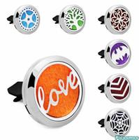 Wholesale bat locket resale online - Love Flower Bat mm L Stainless Steel Car Diffuser Locket Aromatherapy Essential Oil Perfume Locket Vent Clip For Car Pads
