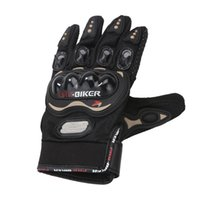 Wholesale bikers glove resale online - Professional Full Finger Knight Riding Motorbike Motorcycle Biker Gloves D Breathable Mesh Fabric Unisex Men Gloves Black M XL