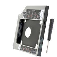 sata ide sabit disk caddy toptan satış-Evrensel 12.7mm SATA IDE Optik Bay Sabit Disk Adaptörü Caddy Fit Yuvası Yük ATAPI / IDE sürücü
