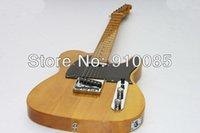 venta de guitarras de fábrica al por mayor-Venta caliente Venta al por mayor Custom Shop Signature Amarillo Estándar Telecaster Guitarra eléctrica China Guitar Factory Envío gratis