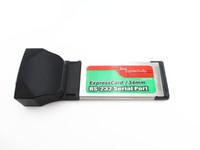 ingrosso porte seriali dei portatili-Freeshipping RS232 Porta seriale I / O DB9 a PCMCIA Express Card Adattatore da 34 mm Notebook PC portatile