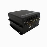 каналы передатчика оптовых-Freeshipping приемопередатчик 12G HD SDI; разрешение передачи приемника передатчика; мультиплексор 4 каналов 3G-SDI над Однорежимным разбивателем волокна