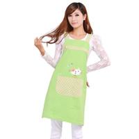 Wholesale sales apron resale online - Korean Hot Sale Cute Cat Fashion Princess Tea Shop Kindergarten Apron Woman Lady Work Wear Cotton Overall Aprons New