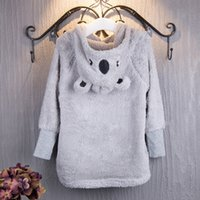 Wholesale Lolita Hoodie - Girls Bear Hoodies Cloak Cape Warm Winter Autumn Cute Bear Ear Short Coats with Hat 2-6T