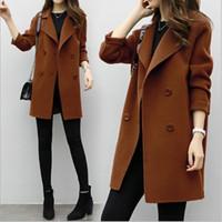 trincheira abrigos venda por atacado-Casaco de moda Mulheres Trench Coat Para As Mulheres Blusão longo manteau femme hiver vadim abrigo mujer roupas femininas