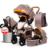 Fst shipping !HJBB 4 in 1 baby stroller high landscape stroller baby can sit reclining folding with Comfortable car seat