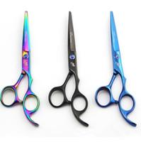berber makas seti toptan satış-Kuaförlük Makas Seti Saç Kesme Makası Profesyonel Saç Makas Saç İnceltme Makas Kuaför Salon Araçları