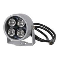 infrarot-lichter für nachtsicht großhandel-IR Strahler Licht 850nm 4 Array LEDs Infrarot wasserdicht Nachtsicht CCTV Fill Licht DC 12V für CCTV Überwachungskamera