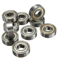 ingrosso lame a rullo-Ruote 10Pcs Skateboard Groove Roller Blade Ball Bearings Argento