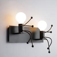 luzes de cabeceira modernas venda por atacado-Lâmpada de Parede moderna LEVOU Arandelas de Parede Luz de Parede de Cabeceira Sala de Crianças Bebê arandela Casa Dos Desenhos Animados Iluminação Luminárias