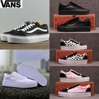 Wholesale thick wedges - 2018 vans Platform wedges Old Skool White Black Classic zapatillas de deporte Sneakers Women Mens Canvas Casual Designer thick shoes 36-44