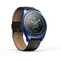 32 gramlık izle toptan satış-V10 Akıllı İzle Erkek Saatler BT Kol Saati Adam Saatler Erkekler Arama Çağrı GSM 32G TF Kart Kamera Smartwatch Spor Dijital