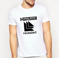 revelando roupas venda por atacado-Hardwell camiseta legal revelado vestido de manga curta carta casual tees Unisex clothing Pure color Tshirt