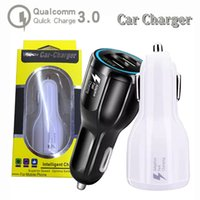 Wholesale usb 12v car power resale online - QC V A v A V A dual usb fast car charger power dock travel adapter usb phone charger for samsung galaxy s9 plus iphone x