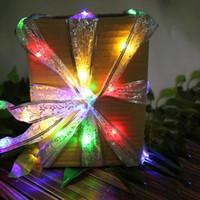 étoile bleue pour arbre de noël achat en gros de-Star Moon Ribbon Led chaîne de lumière 40Led 400CM longueur Couleur Bleu Blanc Chaud pour Partie Cadeau Bow Boîte Arbre De Noël Décor Fée TW