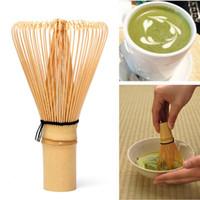 herramientas de té de bambú al por mayor-64 Matcha Green Tea Batidor de Polvo Matcha Bamboo Batidor Bamboo Chasen Útil Herramientas de Cepillo Accesorios de Cocina