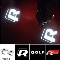 Wholesale vw caddy - 2pcs For Volkswagen VW Golf 4 MK4 Touran Caddy Bora Beetle Golf4 Rline LED Door Warning Light Logo Projector Laser Ghost Shadow Light
