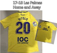 Wholesale Prince Homes - 2017 2018 Las Palmas Soccer Jersey Home and Away #7 PRINCE #20 VITOLO With patch and sponsor Top quality Football Shirt
