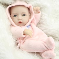 Wholesale Kids Silicone Doll Mini - NPK Collection 11 Inch Princess Girl Doll Mini Reborn Babies Full Silicone Vinyl Newborn Dolls With Clothes Kids Birthday Gift