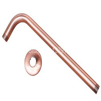 """Wholesale Bathroom Wall Cover - Wholesale-Antique Copper Brass Shower Head Extension Pipe - 12"""" Long wall cover - Shower Arm Bathroom Accessory (Standard 1 2"""") ash100"""