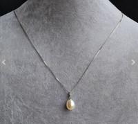 ingrosso perle originali per il matrimonio-Gioielleria con perle di nozze, collana pendente ciondolo perla colore bianco, collana in argento sterling con perla d'acqua dolce genuina, spedizione gratuita