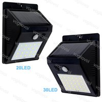 Wholesale solar panel lights indoor online - Solar Led Outdoor Lighting LEDs LEDs Solar Panels Power PIR Motion Sensor Waterproof LED Garden Light Wall Light DHL