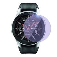 galáxia de vidro temperado azul venda por atacado-5 pcs anti azul luz de vidro temperado protetor de tela para samsung galaxy watch 46mm 9 h 2.5d smart watch filme de vidro de proteção