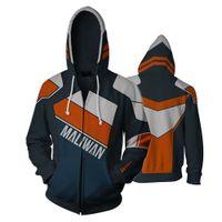 sudaderas con cremallera completa al por mayor-Juego Borderlands 2 Full Zip Thin Hoodies Cool Pullover Coat Jacket Unisex Jumper Sweatshirt Cospaly