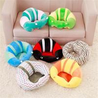 asiento del sofá del bebé al por mayor-Baby Learning Chair Kids Sleep Pillow Cama plegable Safety Soft Car Seat Cojín Portable Sofa Juguetes de peluche Dormitorio Ropa de cama 40mb2 bb