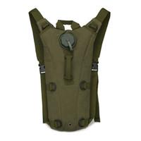 mochilas militares al por mayor-Paquete al aire libre de la hidración de los deportes 3L bici del bolso de agua que completa un ciclo el camuflaje del ejército