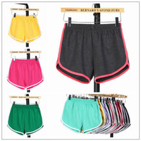 Wholesale gym clothing woman yoga pants for sale - 22 Colors Women Casual Shorts Yoga Sports Gym Homewear Fitness Pants Summer Shorts Beach Running Home Clothing Pants CCA9984
