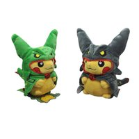 Wholesale ems cosplay for sale - EMS PKC Cosplay Rayquaza CM Soft Doll Stuffed Party Gift Plush Toy