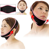 Wholesale facial slimming mask resale online - 1 pc Face Lift Up Belt Sleeping Face lift Mask Massage Slimming Shaper Relaxation Facial Health Care Bandage
