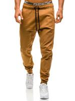 pantalones de color caqui de calidad al por mayor-Hombres Joggers Nuevos Pantalones Casuales Hombres Ropa de Marca Primavera de Alta Calidad Pantalones Largos Caqui Pantalones Elásticos Masculinos 3XL