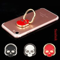 Wholesale new retail products - skull ring holder cell cool gadget hot new product Phone Car stand fidget multi colors available with retail box