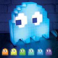 mini çocuk gece ışığı toptan satış-Renk Değişimi Karikatür luminarias dj Led Mini USB Gece Lambası 8-bit ruh hali ışık Piksel Tarzı Çocuk Bebek Yumuşak Lamba yatak odası Aydınlatma